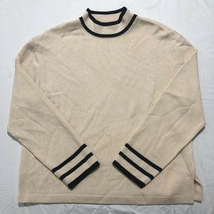 St John Collection Santana Knit Mock Sweater Large